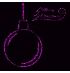Merry Christmas lights card vector image