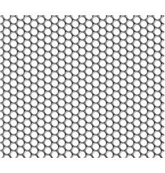 Metallic hexagonal grid realistic seamless vector