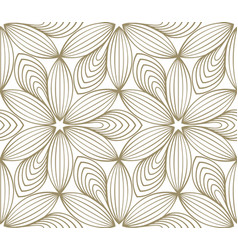 minimalistic repeating linear flower pattern on vector image vector image