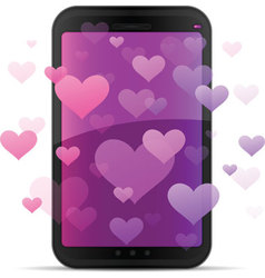 mobile love vector image vector image