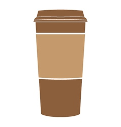 Paper coffee cup symbol vector