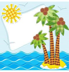 Patchwor- ktextiles sea background vector image vector image