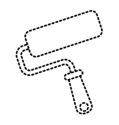 roller brush paint repair tool vector image