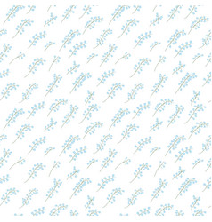 Seamless pattern of sprigs of lily of the valley vector