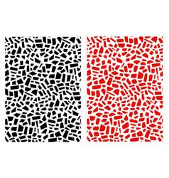 Set of seamless granite mosaic pattern in vector