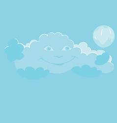 smiling cloud vector image vector image