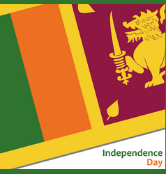 Sri lanka independence day vector