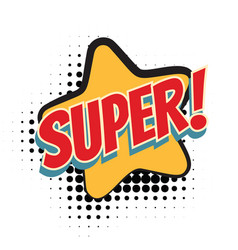 super comic word vector image vector image