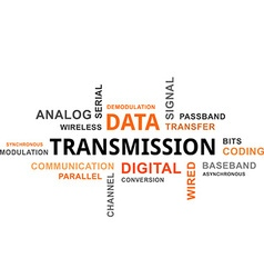 Word cloud data transmission vector