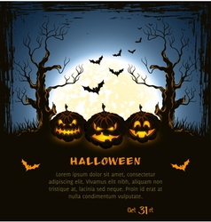 Blue grungy halloween background vector
