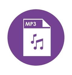 Mp3 file icon vector