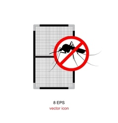 mosquito net isolated vector image