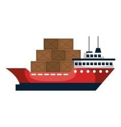 cargo ship silhouette icon vector image