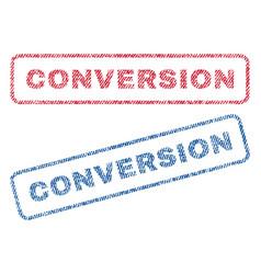 Conversion textile stamps vector