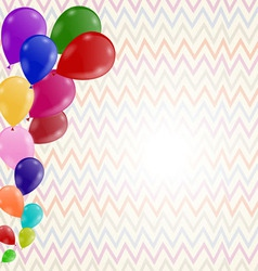 Colored background with balloons on a postcard vector image