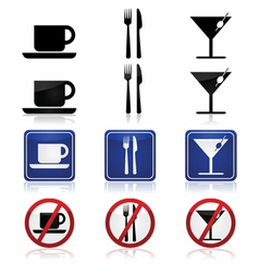 Restaurant and bar signs vector image