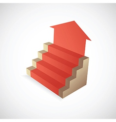 Steps to success vector