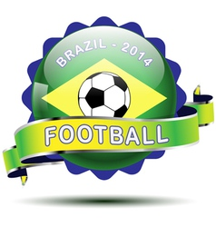 Brazil icon button vector