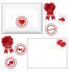 post love set vector image