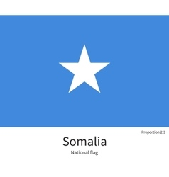 National flag of somalia with correct proportions vector