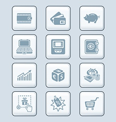 Money matters icons - tech series vector