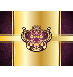 Purple Decorative Background9 vector image