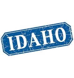 Idaho blue square grunge retro style sign vector