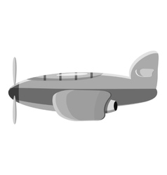 Airplane transport icon gray monochrome style vector