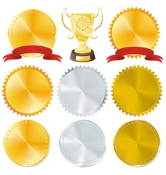 awards and golden vector image vector image