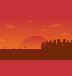Bad environment with orange background vector