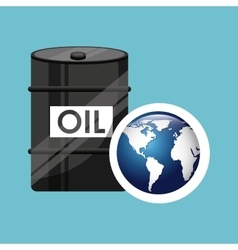 Barrel oil concept globe world vector