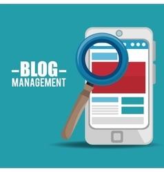 blog management design vector image vector image