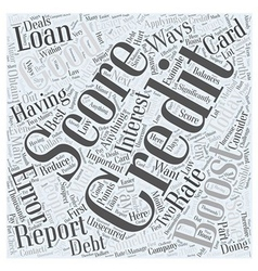 Boost credit score word cloud concept vector