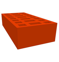 Brick on white vector