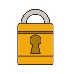 Cartoon padlock lock security money bank vector