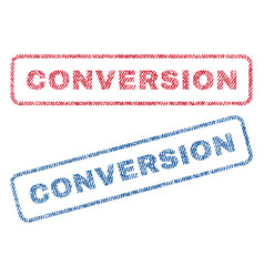 Conversion textile stamps vector