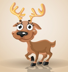 Cute smiling baby northern deer vector image