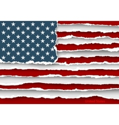 Design flag united states of america from torn vector