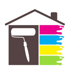 Design painting house vector image