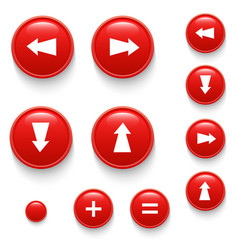 directional buttons red vector image vector image