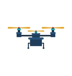 drone with three airscrew and train of landing vector image