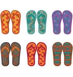 Flip flops collection vector