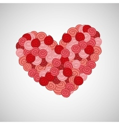 flower heart rose vector image