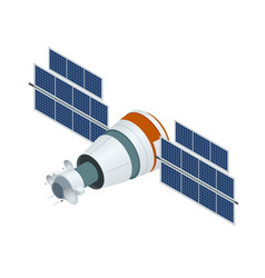 gps satellite flat isometric vector image
