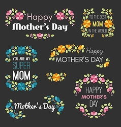 Happy Mothers Day Set of Design Elements with vector image vector image