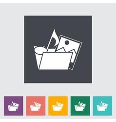 Icon Folder vector image vector image