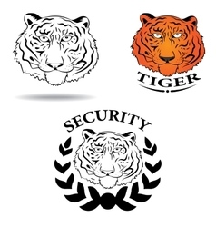 logo with the image of a tiger vector image vector image