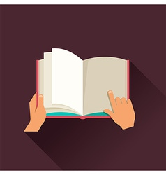 Open book concept design vector image