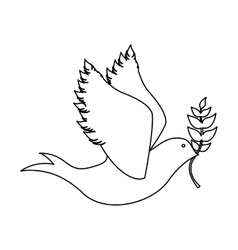 Peace dove icon image vector