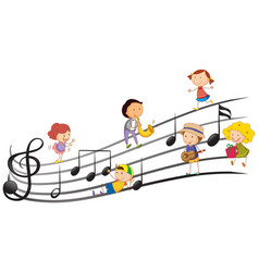 people playing musical instruments with music vector image